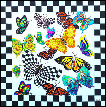 BUTTERFLY & CHECKERBOARD - web
