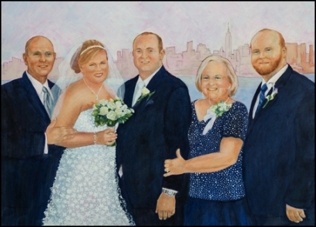 Wedding oil painting-web